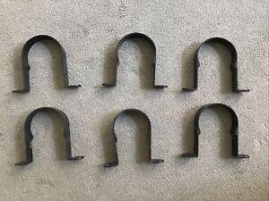 """6 x Aluminium 3"""" Drainpipe Clips Metal"""