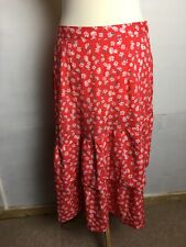 Influence Size12 Red Floral Print Skirt