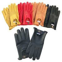 New Mens real soft leather slim fit retro style dress fashion driving gloves 508