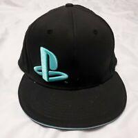 Sony PlayStation Black Snap Back Hat Cap PS