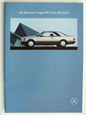 Prospekt Mercedes C 124 Coupes - 230 CE - 300 CE-24,  9.1990, 34 Seiten