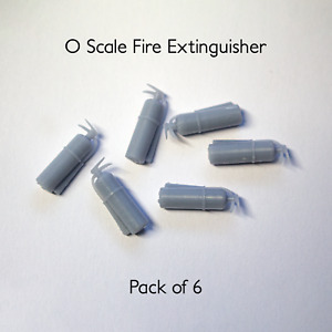 O Scale Model Fire Extinguishers Unpainted 1:43   6 Pack