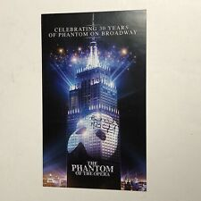 MICHAEL CRAWFORD HAND SIGNED Phantom Of The Opera 30th Anniversary Flyer