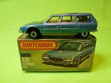 MATCHBOX 12  SUPERFAST CITROEN CX BREAK - METALLIC BLUE - NEAR MINT IN BOX