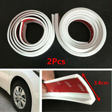 Universal 1.5m/3.8cm Car Fender Moulding Flares Protection Rubber Strips White