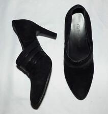 TRENT NATHAN 6 black suede leather BOOTIE shoe designer WINTER heels CHIC classy
