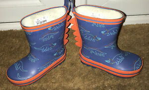 M&s Boys Dinosaurs Wellies Size 5 Toddler