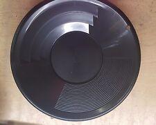 "12"" Black Dual Riffle Plastic Gold Pan"