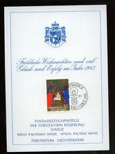Liechtenstein 1981 Christmas Philatelic Card #290
