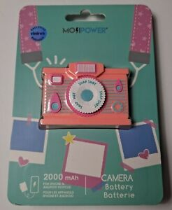 NEW Claires 2000 mAh Super Cute Faux Camera Power Bank for USB Devices NIP