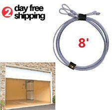 Replacement Garage Door Lift Cable for Torsion Springs Safety Heavy Duty Pair 8'
