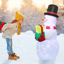Christmas Inflatable LED Light Up Snowman Decoration Outdoor Yard Xmas Decor