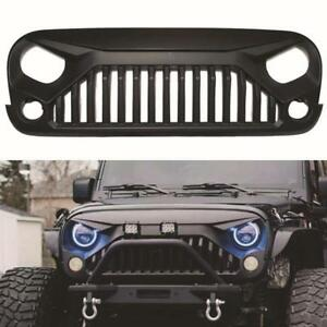 For 07-18 Jeep Wrangler JK Aggressive Angry Bird Matt Black Front Grill Grille