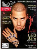David Blaine signed Color Photo Flyer JSA COA Inscribed Magician Bold Auto B651