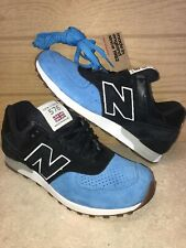 NEW BALANCE 576 Men's Size 8 M576PNB MADE IN ENGLAND Black/Blue Sneakers Shoes