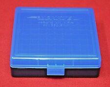 9mm/.380 Ammo Box / Case / Storage 100 Rnd Boxes Blue Color