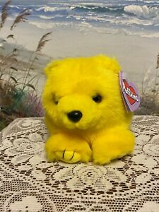 """Puffins BUTTERCUP Yellow Bear w/ Tags 5"""" Swibco Bean Bag Plush NEW!!"""