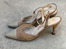 Delman Vintage Women's Beige Heels Pumps Fashion Shoes Size 8 M