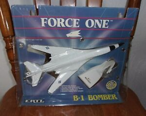Vintage Force One B-1 Bomber Diecast By Ertl 1988 Military Aircraft USAF AMSA