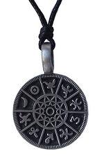 Pewter HOROSCOPE ZODIAC Pendant on Adjustable Black Cord Necklace Nickel Free