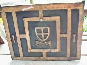 Old Cast Iron Fireplace front cover Heavy Architectural Decor art household