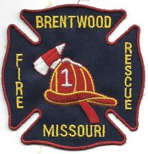 "Brentwood  Fire - Rescue, Missouri  (3.25"" x 3.25"" size) fire patch"