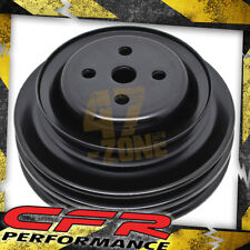 Steel 64-73 Ford Sb Water Pump Pulley 3 Groove Black (For California Smog Pump)
