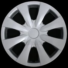 "15"" Set of 4 Wheel Covers Snap On 8 Spoke Full Hub Caps fit R15 Tire & Steel Rim"