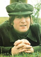 JOHN LENNON (Beatles) in a green cord cap magazine PHOTO / Poster 11x8 inches