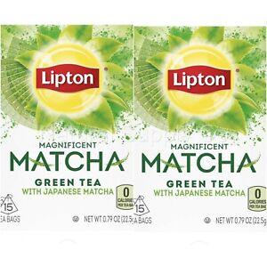 Matcha Green Tea Bags Lipton 2 Pack (2 Boxes/30 Bags)