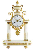 XVIII ROQUE. Kaminuhr Empire clock bronze horloge antique cartel pendule