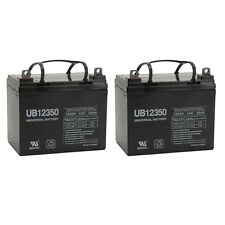 UPG 2 Pack - 12V 35Ah U1 Deep Cycle AGM Solar Battery Also Replaces 33Ah 34Ah, 3