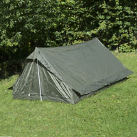 Original French F1 Commando Tent - Army Surplus Unissued Camping 2 Man Green