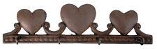 Cast Iron Heart 4 Hook Wall Hooks Garden Patio Outdoor Indoor Gift New