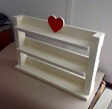 HAND Made in legno Spice Erbe Cremagliera-SCAFFALI può contenere fino a 66 Schwartz Barattoli -.