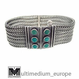 Gustav Hauber Jugendstil Silber Armband Türkis silver bracelet 🌺🌺🌺🌺🌺
