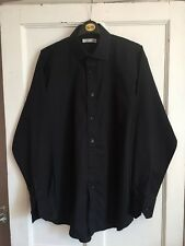 "Men's Black Long Sleeved Collared Shirt Size 16"" from Primark"