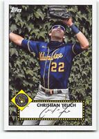 2021 Topps Series 1 1952 Topps Redux T52-20 Christian Yelich Milwaukee Brewers