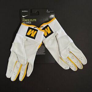 Nike Force Elite Michigan Wolverines Batting Gloves CV0745 102 White Size SMALL