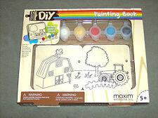 Children's fun craft DIY Maxim farm wooden book and paint it yourself set NIB