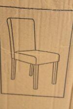 4x Esszimmerstuhl Stuhl Küchenstuhl Littau dunkelbraun 90x43x56cm Kunstleder NEU