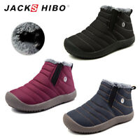 Boys Girls Winter Snow Ankle Boots Kids Warm Soft Fur Lined Outdoor Cozy Shoes