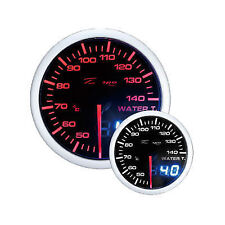 Depo Racing 60mm Smoked 2 Color Red/White Dual View Water Temp Gauge WA6037BLED
