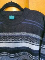 Vintage Canda C&A Stripe Patterned Wool Jumper Cosby 70s 80s 90s L XL