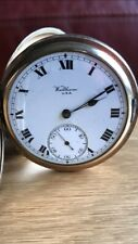 Waltham Gold Plated Hunter Pocket Watch. Working Condition