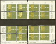 Switzerland Schweiz 1963 Wheat Plate Block Matched Set - MNH - Sc# 425 VF CV $30