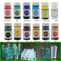 12 Color 12 Bottles Epoxy UV Resin Coloring Dye Colorant Resin Pigment Art Craft