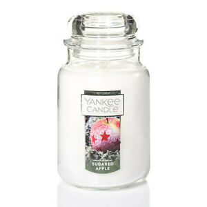 ☆☆SUGARED APPLE☆☆LARGE YANKEE CANDLE JAR 22 OZ.☆☆- FREE SHIP!  CHRISTMAS SCENT
