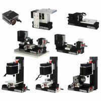 8in1 DIY Tools Mini Wood Metal Lathe Wire Sawing Machine Mill Driller Sander 60W