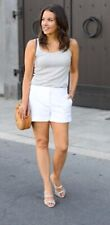 HINGE Cuffed White Shorts Anthropologie Pants